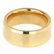 Gray's Plain Gold Tone Tungsten Ring - 2.5MM