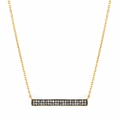 Gwendoline's Gold CZ Bar Necklace