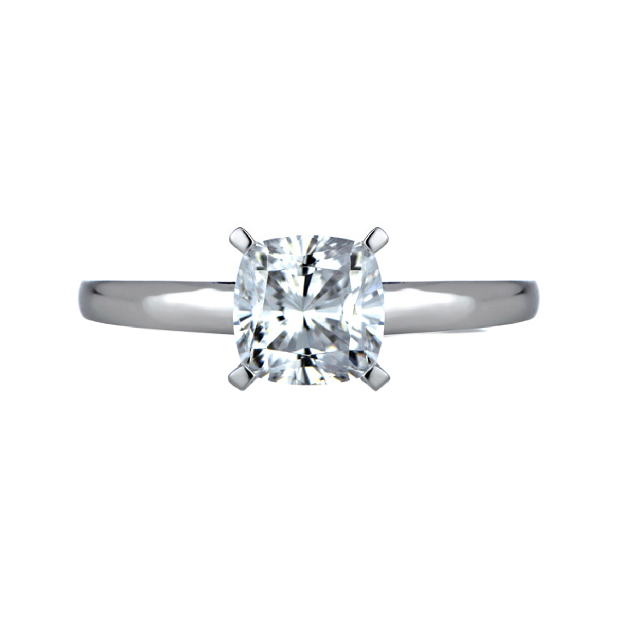 Gwyns Cushion Cut Solitaire Engagement Ring