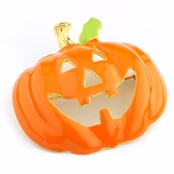 Halloween Jewelry: Wednesday's Pumpkin Brooch