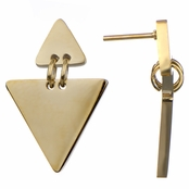 Hardee's Modern Gold Triangle Dangle Earrings