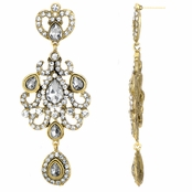 Harlow's Red Carpet Antique Rhinestone Dangle Earrings
