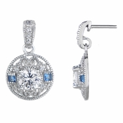 Harper's Blue Cubic Zirconia Antique Drop Earrings