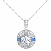 Harper's Blue Cubic Zirconia Antique Necklace