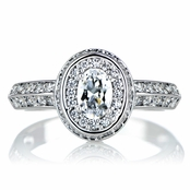 Heirloom Inspired Jewelry: Haruki's Oval CZ Vintage Ring