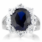 Julia's Vintage Blue CZ Cocktail Ring