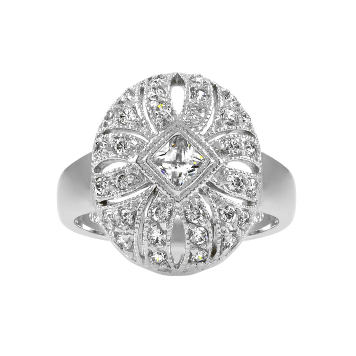 heirloom inspired jewelry maisie s cz vintage ring
