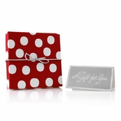 Holiday Jewelry Gift Box - Red and White Polka Dot