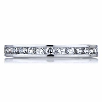 Holly's Round Cut CZ Eternity Ring Band