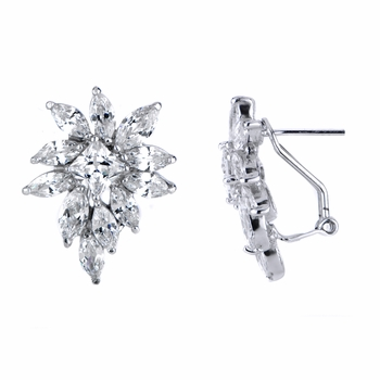 Glamorous Marquis CZ Cluster Earrings