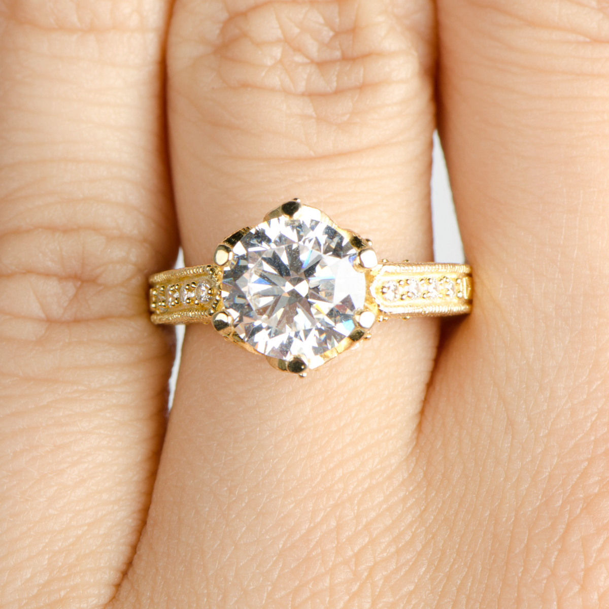 2 5 Carat Round Diamond Ring