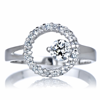 Hope's Round Cut Cubic Zirconia Promise Ring