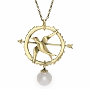 Hunger Games Comparable Jewelry: Mockingjay Charm Necklace