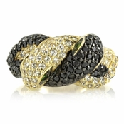Snake Ring - Goldtone/Black - Comparable to Queen Victoria