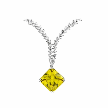 "Isadora Canary CZ Necklace - Comparable To ""How to Lose a Guy in 10 Days"""
