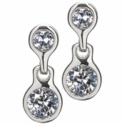 Jacinda's Non Pierced Magnetic Earrings - CZ Studs