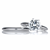 Jackie's 2 Carat Round Cut CZ Silver Wedding Ring Set