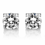 Jamal's Round Cut CZ Non Pierced Magnetic Earrings - 5mm