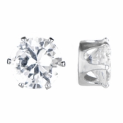 Jamal's Round Cut CZ Magnetic Stud Earrings - 8mm