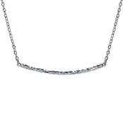 Jennifer's 18 inch Silver Tone Hammered Bar Necklace