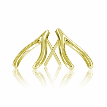 Jennifer's Gold Plated Wishbone Earrings