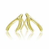 Jennifer's Goldtone Wishbone Earrings