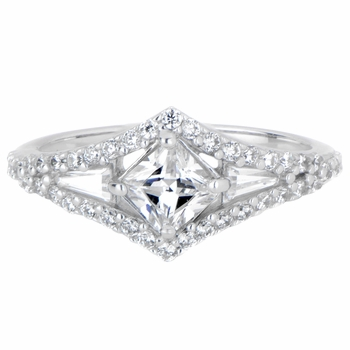 Jesenia's CZ Art Deco Engagement Ring