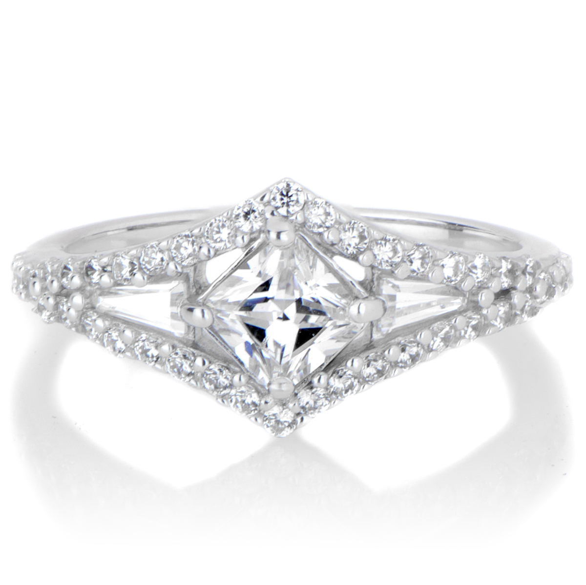 deco diamond wedding ring