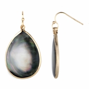 Joette's Simulated Mother Of  Pearl Pear Drop Earrings