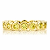 Joy's Goldtone Eternity Ring - Yellow CZ