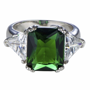 Juni's Antique Green Cocktail Ring