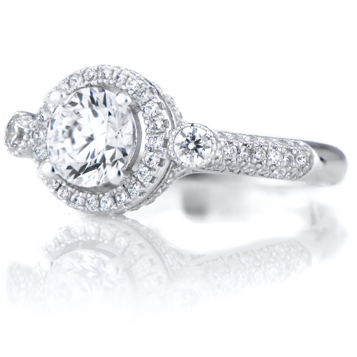 kallie s 1 25ct cz cut antique style engagement ring