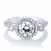 Kallie's 1.25ct CZ Round Cut Antique Style Engagement Ring