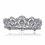 Kallista's 18K White Goldtone Plated Crystal Bridal Tiara