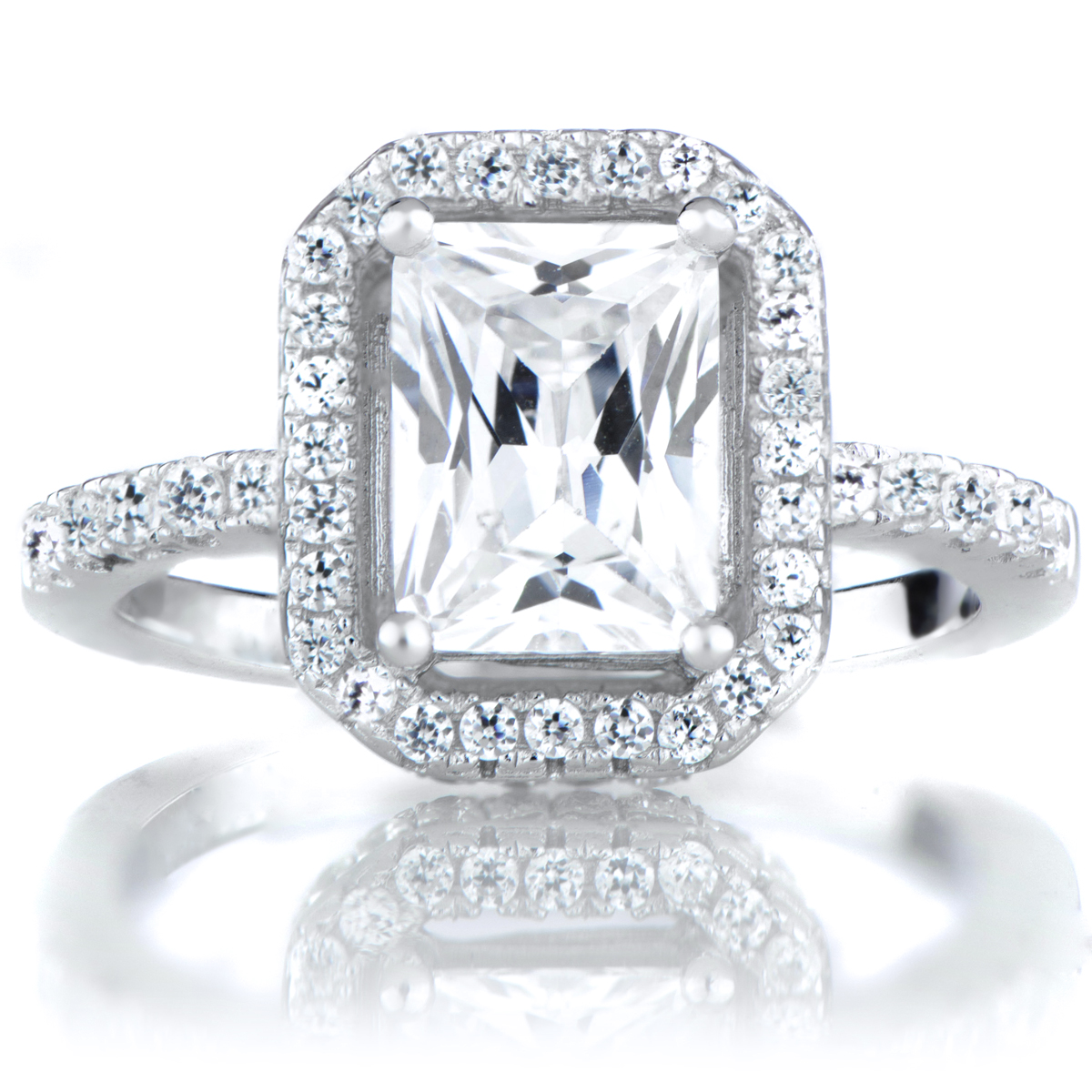karda s 3 5ct emerald cut cz halo engagement ring