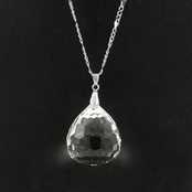 Karen's CZ Diamond Pendant Necklace - Large