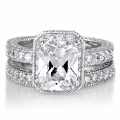 Karianne's Celebrity Inspired CZ Wedding Ring Set - Petite 2.5 Carats