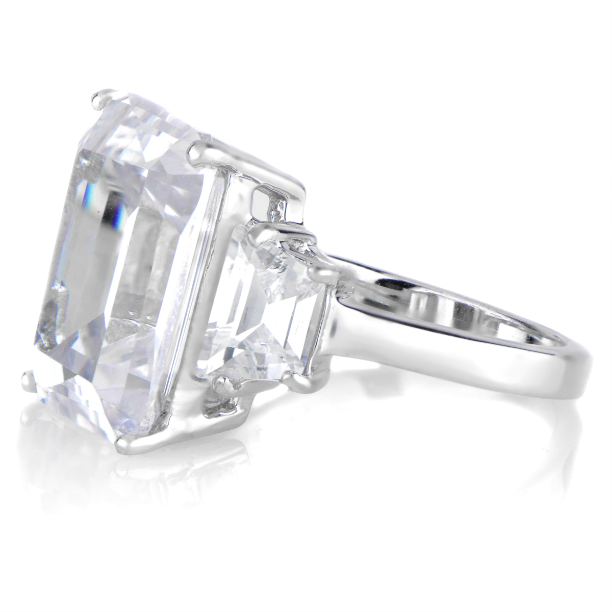 karleigh s luxury emerald cut cz engagement ring