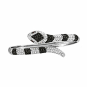Kasen's Black & Clear CZ Snake Bangle