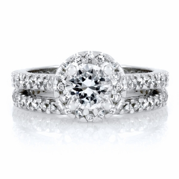Kat's Pave CZ Wedding Ring Set