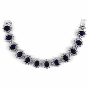 Kate Middleton Comparable Sapphire Tennis Bracelet - 7.5 inches