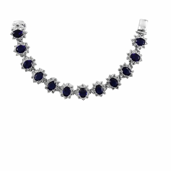 Kate's Blue CZ Tennis Bracelet - 7.5 inches