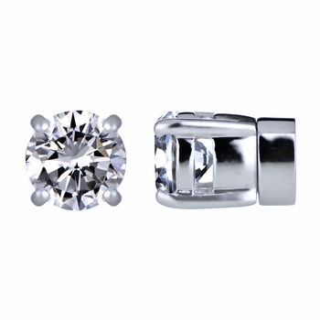 Keandra's Clear Non Pierced Magnetic Earrings - CZ Studs