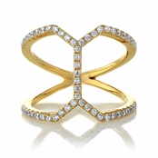 Keilana's Gold Plated CZ Geometric Cocktail Ring