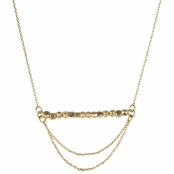Kelly's Goldtone Bar Necklace