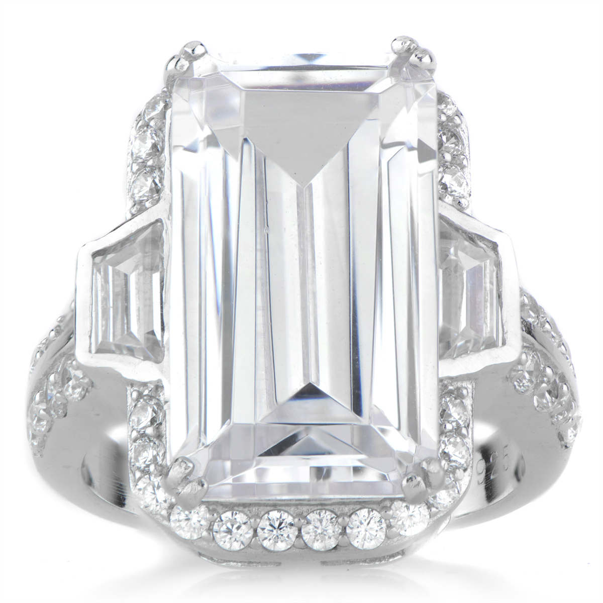 Emerald Cut Cz Ring