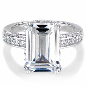 Kenna's Emerald Step Cut Engagement Ring