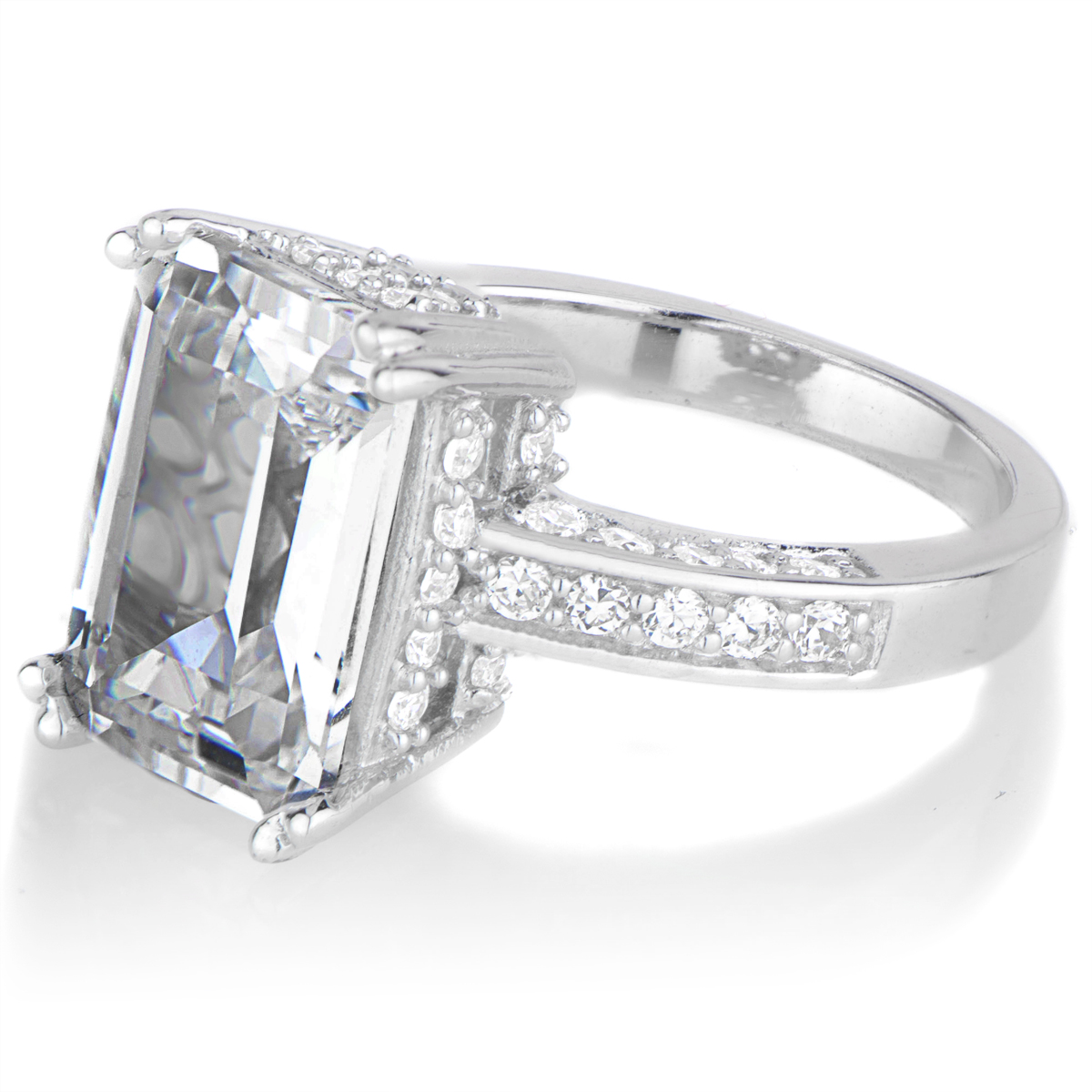 29 fine emerald cut engagement ring with wedding band bravofile