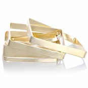 Kenya's Gold Square Bangle Bracelets Set of 4