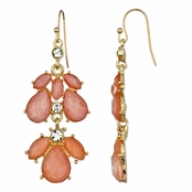Kilala's Chandelier Earrings - Coral